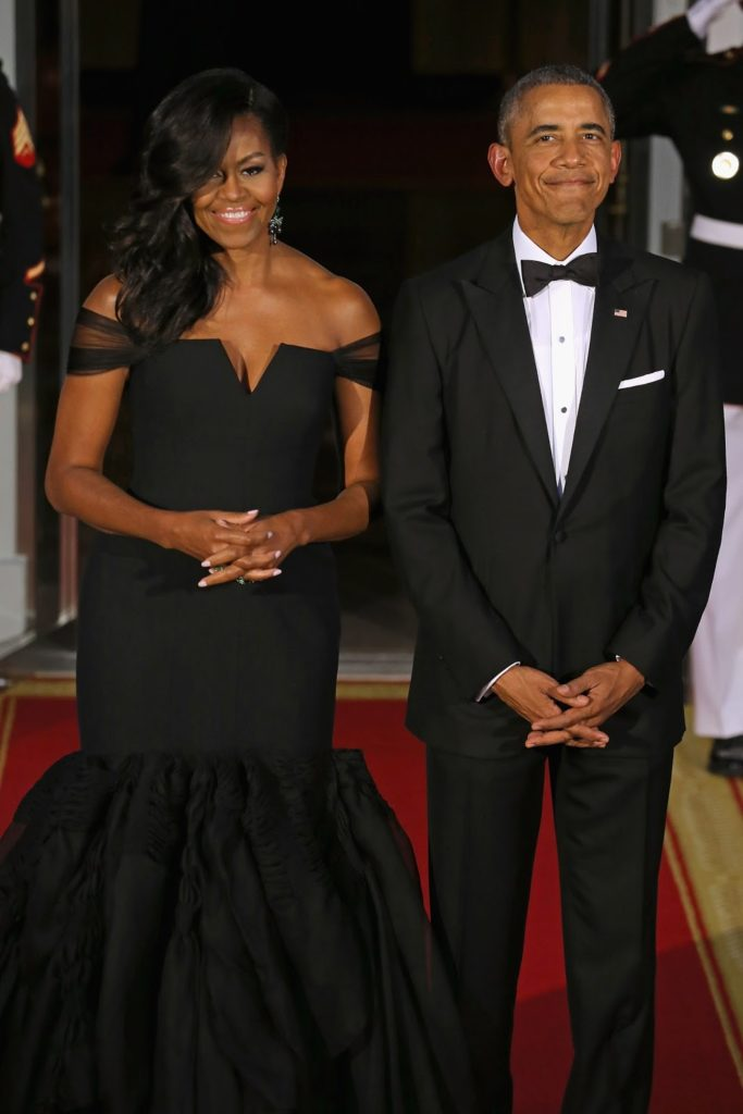 Michelle Obama MURDERS in Vera Wang at White House State Dinner Held for Chinese President