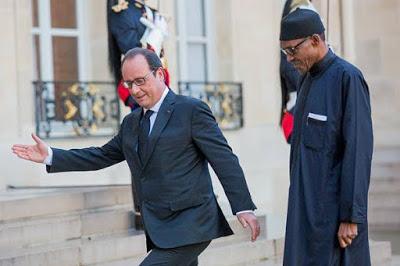 President Buhari meets France president,Francoise Hollande