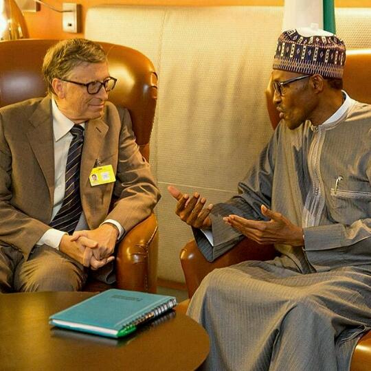 President Buhari Meets With World Richest Man, Bill Gates worth $ 79 Billion