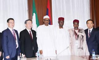 President Muhammadu Buhari meets with PowerChina Representatives