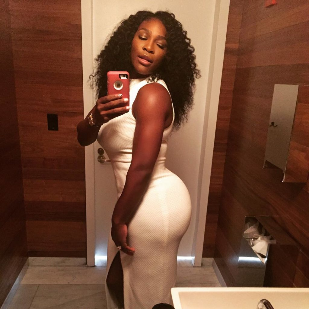 Serena Williams Sexy and Seductive as she post selfie of her Ass on Instagram