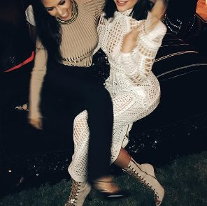 Kylie Jenner Attends Oliver Rousteing's Birthday Party in a Sheer White See through Dress