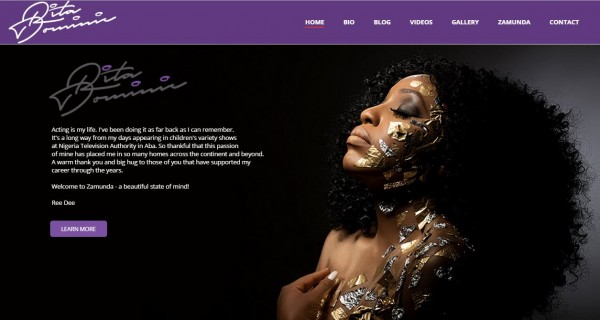 Rita Dominic Launches her Official Website with Awesome Photoshoot
