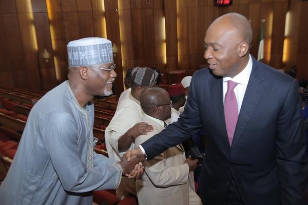 Senate Hold Plenary Session, as Senate President Bukola Saraki Arrives Unperturbed