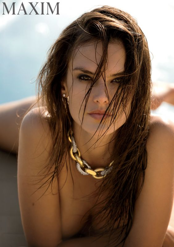 Alessandra Ambrosio naked in MAxim December Issue