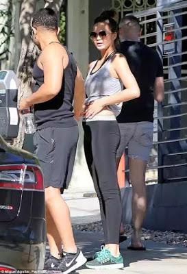 Chrissy Teigen and Husband John Legend visit the Gym