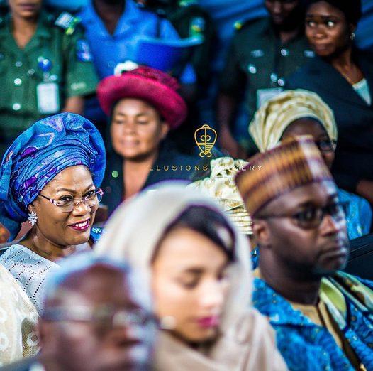 Olusegun Obasanjo,Lara Oshiomole,Adams Oshiomole,Aluko Dangote,President Buhari and  others at HID Awolowo's funeral