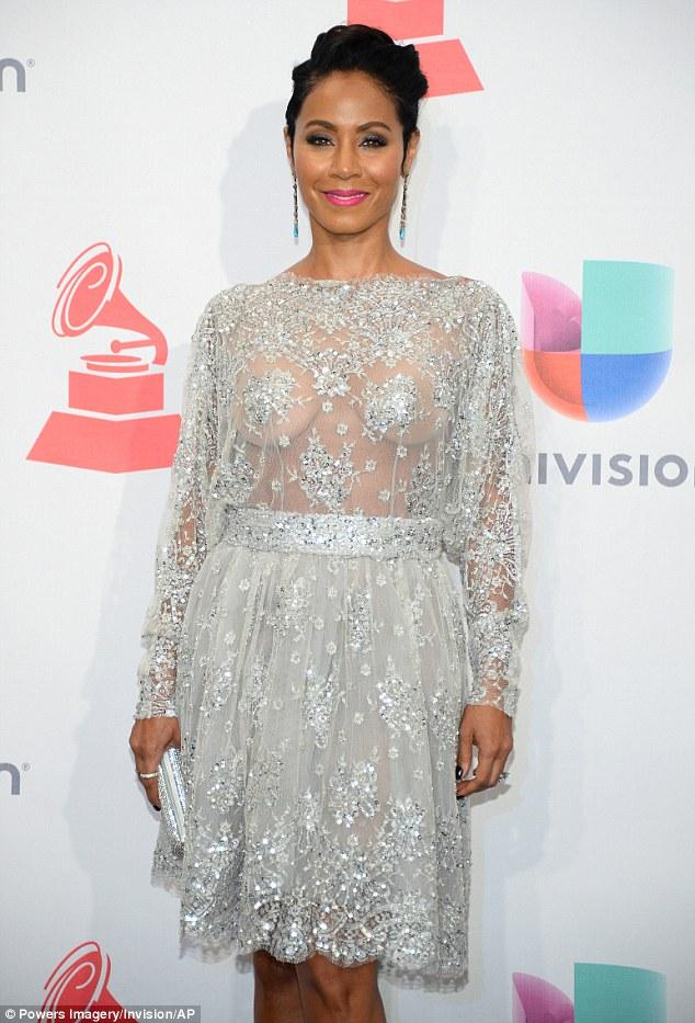 Jada Pinkett Smith  bares her breast at The 2015 Latin Grammy Awards