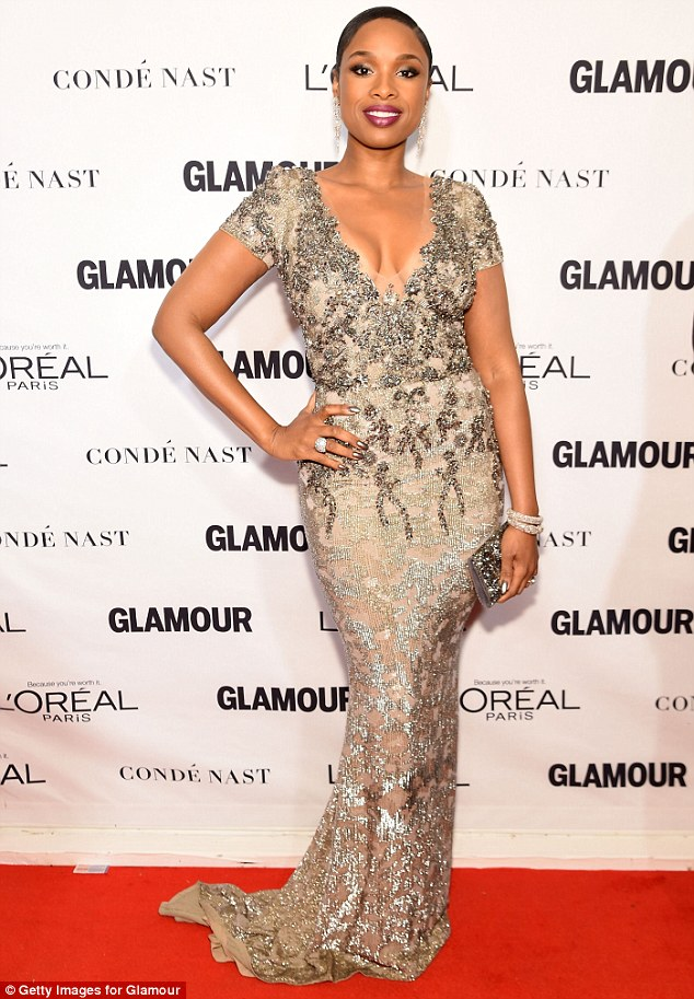 Jennifer Hudson sexy in two different gorgeous outfits at Glamour Woman Of the Year Award