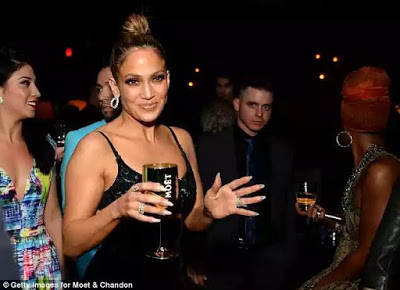 Jennifer Lopez Parties All Night With Ex Diddy