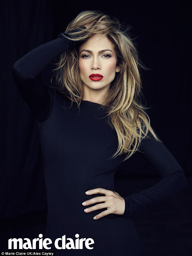 Jennifer Lopez sexy and wows for Marie Claire-Men come & go but my girlfriends are always there