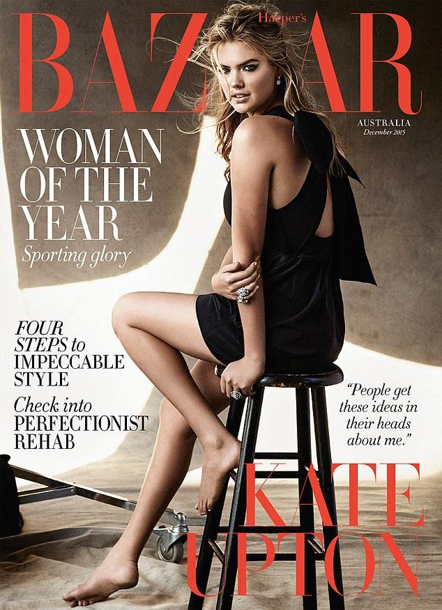 Kate Upton Sexy, Stunning ,Dazzles in diamonds for Harper's Bazaar Australia cover shoot