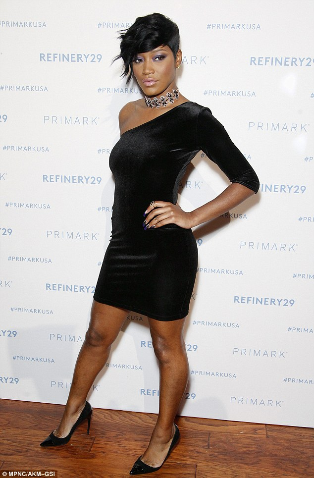 Keke Palmer Sexy,Sultry and Hot as she dons single-sleeved velvet LBD