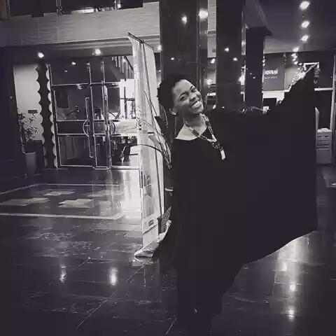 Miss Kedidke,Chidinma Ekile Rocks Long Black Dress With a Smile