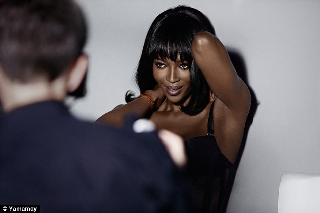 Naomi dazzles in new Yamamay Lingerie Campaign Photo-shoot