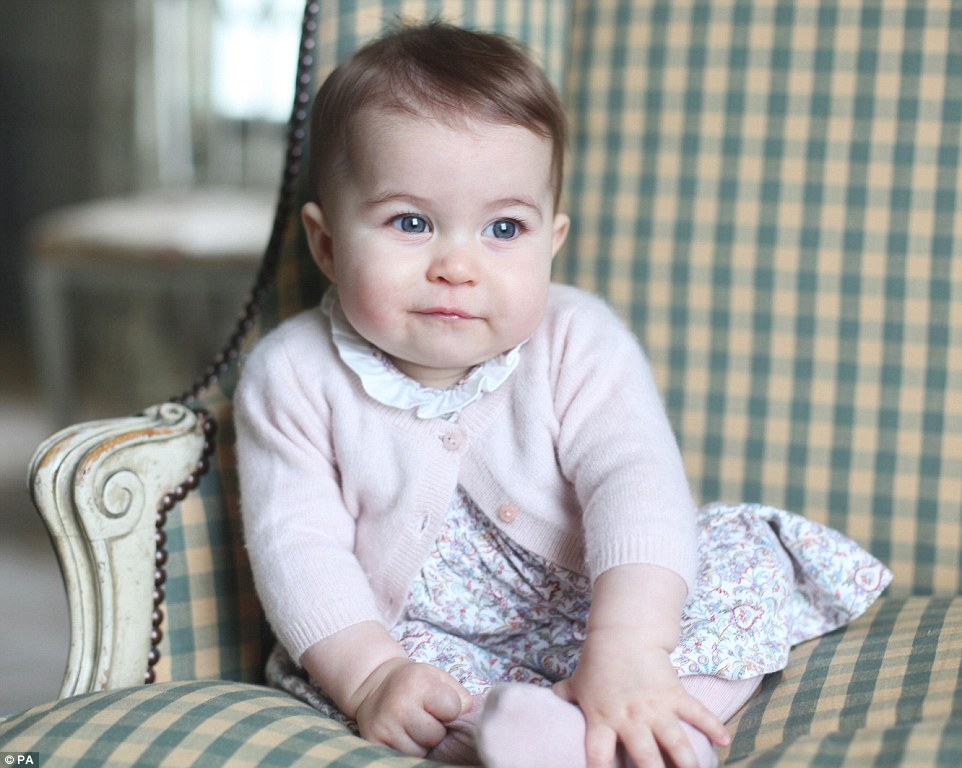 Photos of Princess Charlotte a Six months Old