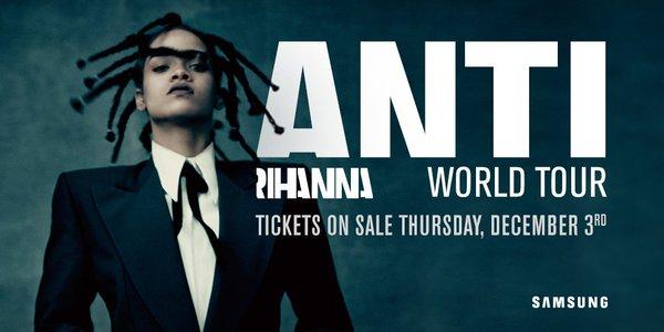 Rihanna Announces The ANTI Tour