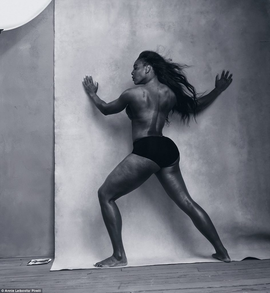 Serena Williams Poses Topless For Pirelli 2016 Calendar Inspired By Annie Leibovitz