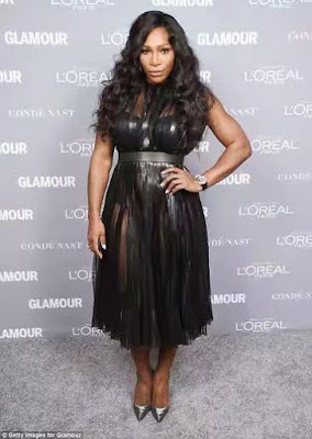 Serena Williams Strong And Sexy as she slays In A Black Sheer Dress at the 2015 Glamour Women of the Year Awards