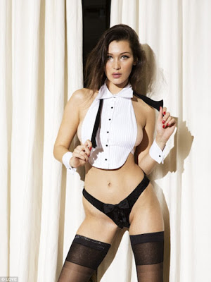 Bella Hadid Poses Raunchy for Love Advent Video Photoshoot