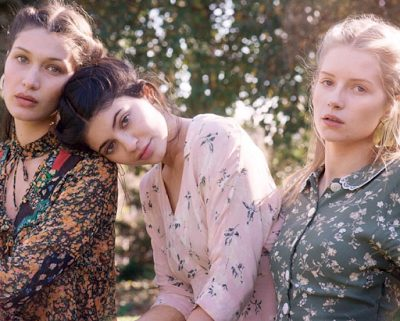 Kylie Jenner, Bella Hadid and Lottie Moss poses for Vogue Magazine january Edition