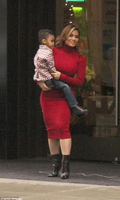 Daphne Joy Steps out in Style In NYC with son