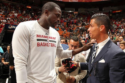 Christiano Ronaldo Attends Miami Heat Game,Takes Selfie with Fans