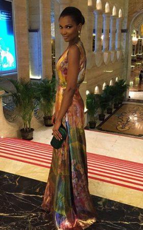 Agbani Darego sexy at Miss World Charity Gala