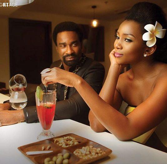 Genevieve  Nnaji and her Co-star Oris Erhuero Covers Vangard Allure December Issue