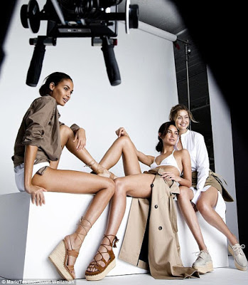 Joan Smalls pose nude for Stuart Weitzman campaign