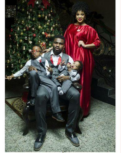 Joseph Yobo and his Family during Christmas