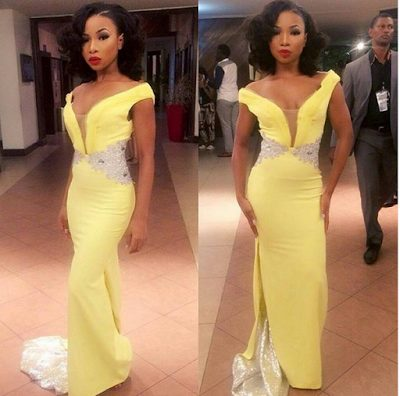 Mocheddah at the Future Awards Africa 2015
