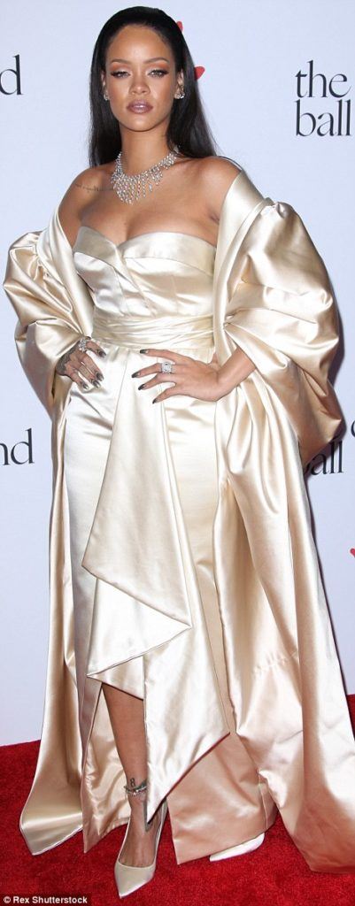 Christian Dior Gown for her Diamond Ball Charity Dinner
