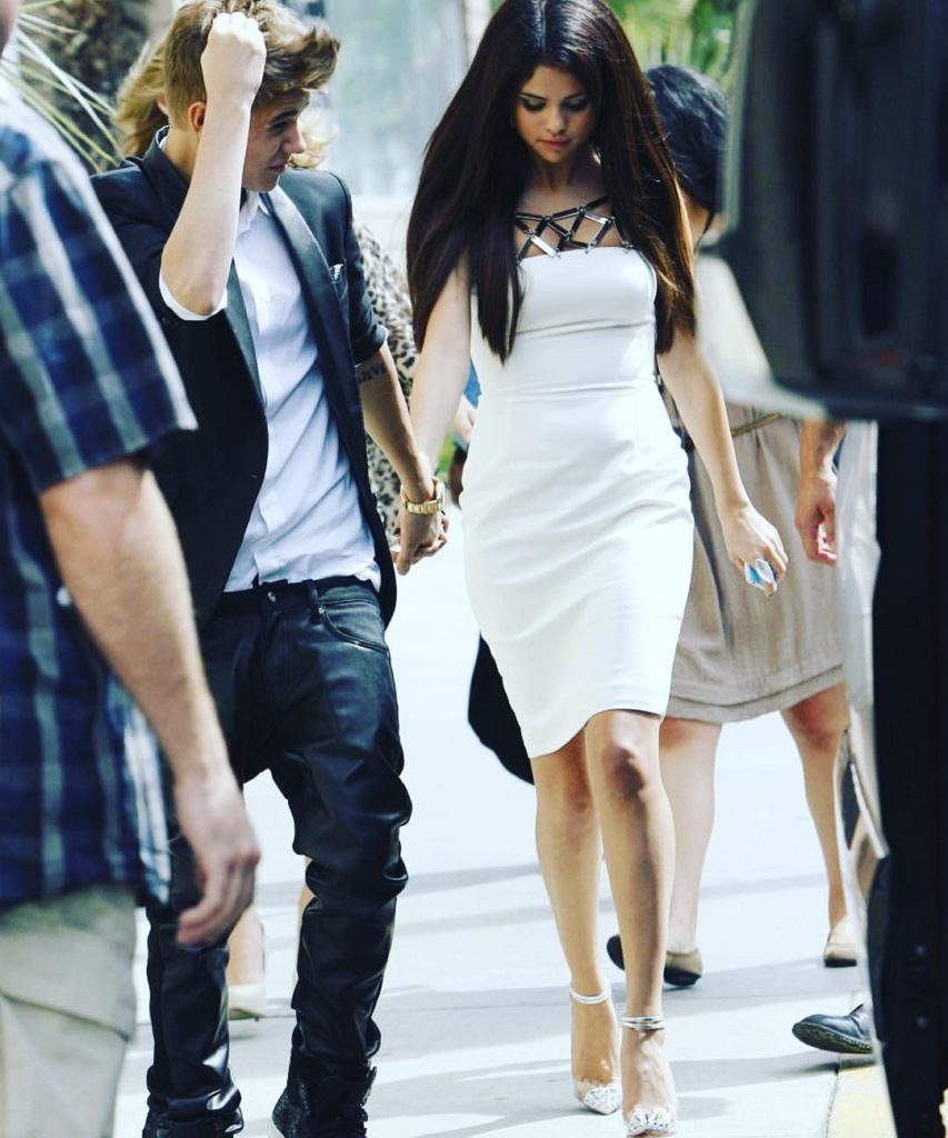 Justin Bieber and ex girlfriend Selena Gomez