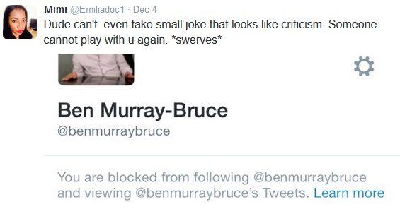Twitter follower calls Senator Ben Murray-Bruce a DUDE