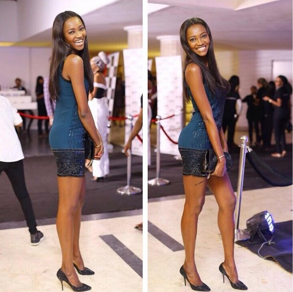 Oluchi  Onweagba Sexy Gorgeous on the Red Carpet of Music Meet Runway