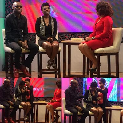 2baba and his wife Annie Idibia look stylish as they were interviewed on a show