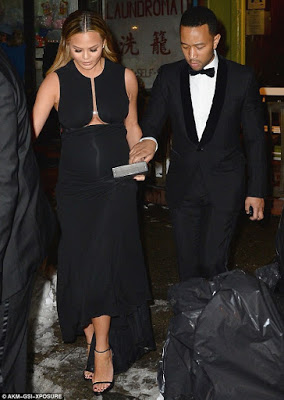 John legend takes his Pregnant Wife Chrissy Teigen on a date night in NY