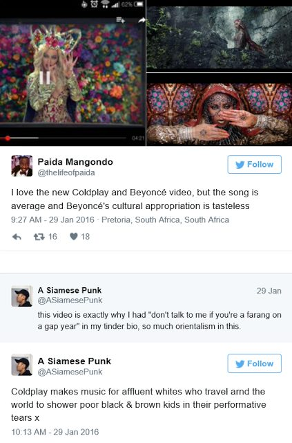 Coldplay and Beyoncé's new video is accused of culture appropriation