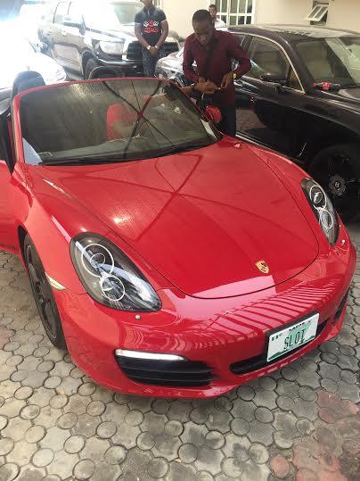 Dbanj  Receives his 2015 Porsche Sport Car From Slot Endorsement Deal