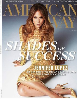 J.Lo stuns on the cover of American Way Magazine