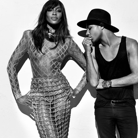 Naomi Campbell, Claudia Schiffer and Cindy Crawford models for Balmain