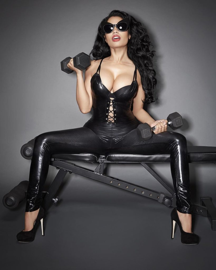 Nicki Minaj Raunchy, Seductive and hot in Black leather Pants, Showing of her Huge Boobs