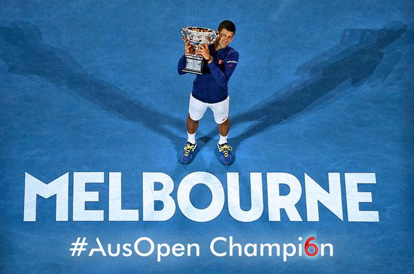 Novak Djokovic beats Andy Murray to Claim his sixth Australian Open Title and his 11th Career Grand Slam