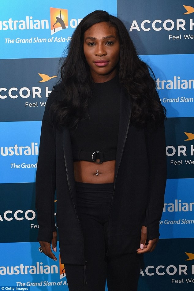 Serena Williams shows off belly button piercing in a crop-top at Australian Open Players Party