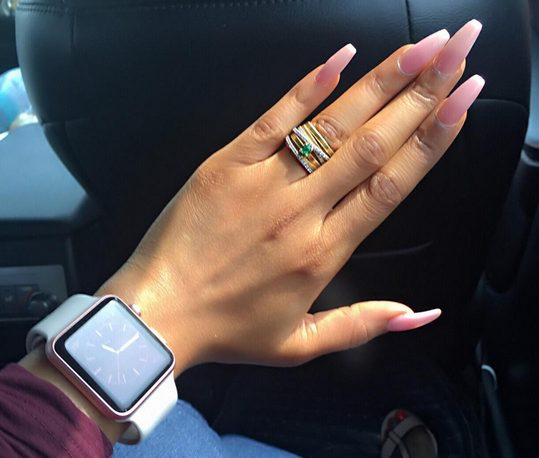 Toke Makinwa and Majid finally back together, as she Displayed her Finger Nails showing off her Ring