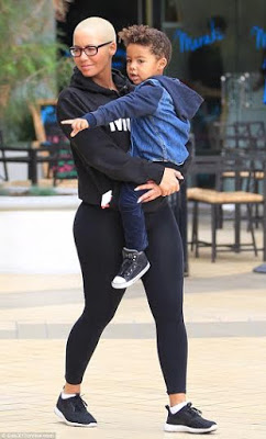 Amber Rose Spends Quality time with Son as she takes him for a Walk in LA