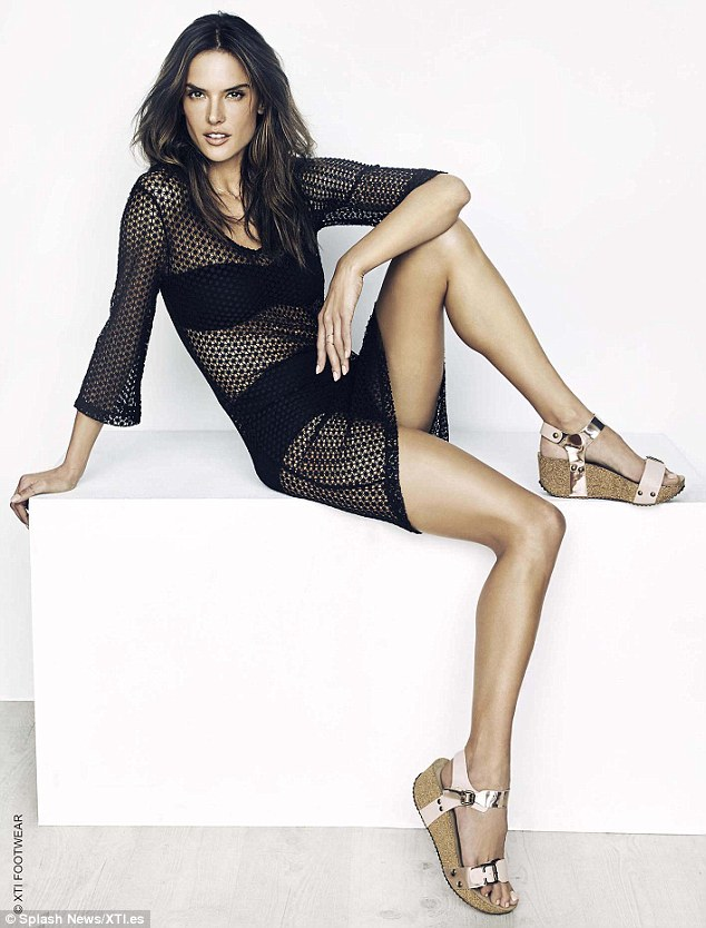 Alessandra Ambrosio poses topless  in ads XTI Shoes