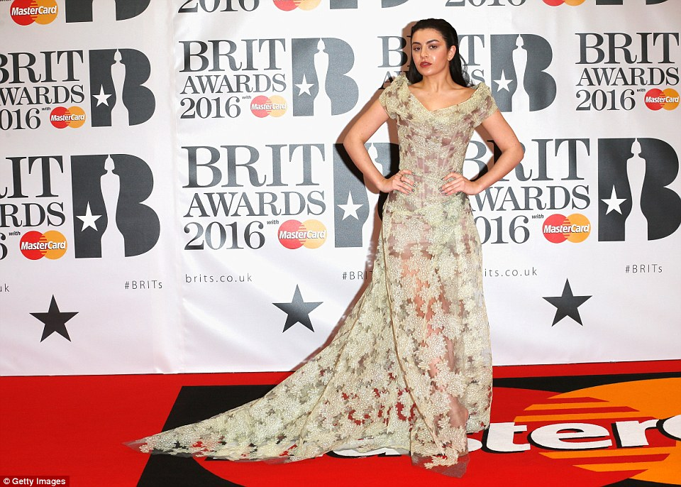 Charlie Xcx at the  Brits Awards 2016 Red Carpet