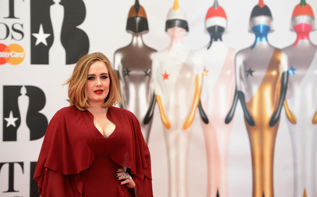 Adele at the  Brits Awards 2016 Red Carpet